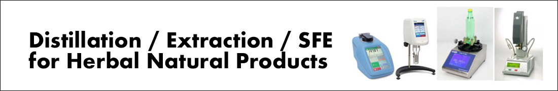 Distillation / Extraction / SFE for Herbal Natural Products